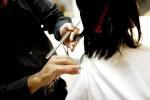 getting hair cut